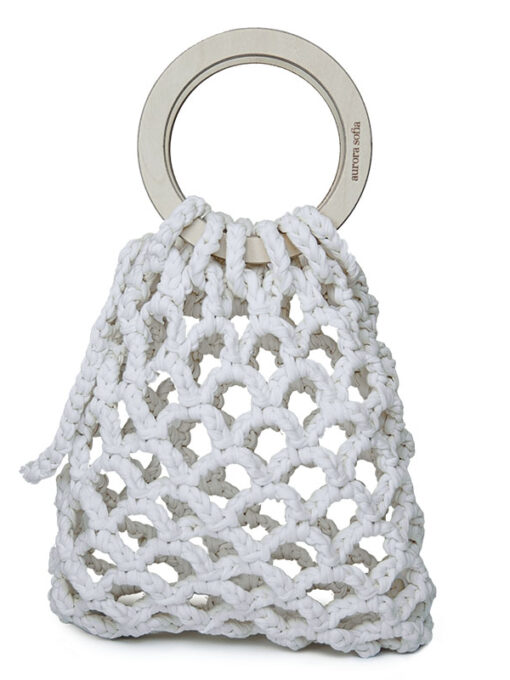 Beautiful and distinctive knitted handbag