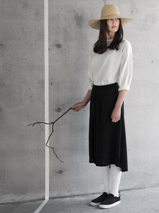 shop aura skirt finnish fashion sustainable hygge luxurious wool made in finland aurora sofia