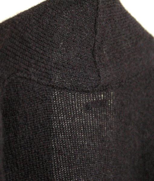 Shop luxuriously long Usva long cardigan black finnish fashion sustainable hygge luxurious wool made in Finland Aurora sofia Suomi100