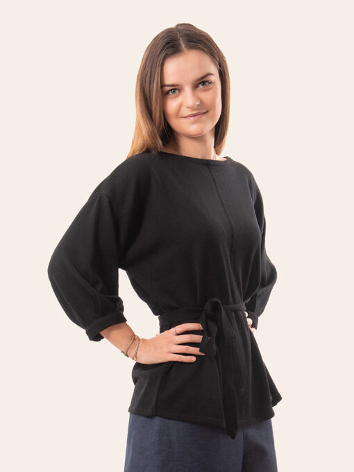 Black merino shirt