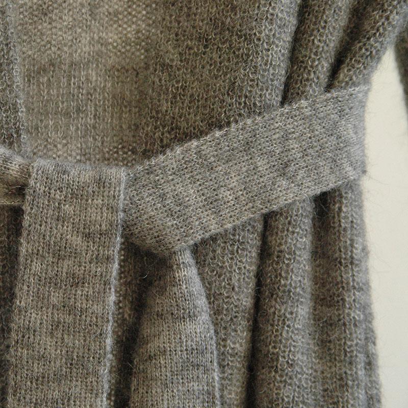 shop Usva long cardigan grey luxuriously long cardigan finnish fashion sustainable hygge luxurious wool made in finland aurora sofia suomi100