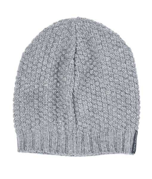 Grey Aurora Sofia Poiju Beanie on a white background