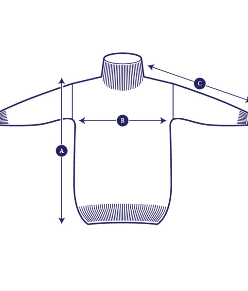 Model drawing of the Aurora Sofia Utu pullover